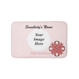 Pink Clover Ribbon Template Bath Mat
