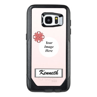 Pink Clover Ribbon Template by Kenneth Yoncich OtterBox Samsung Galaxy S7 Edge Case