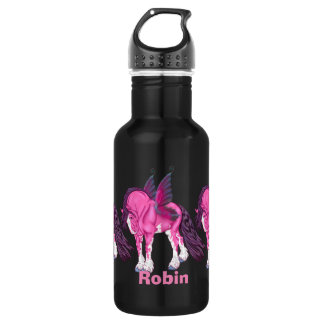 Pink Clydesdale Fantasy Fairy Horse 532 Ml Water Bottle