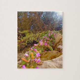 Pink Coastal Flowers Jigsaw Puzzle