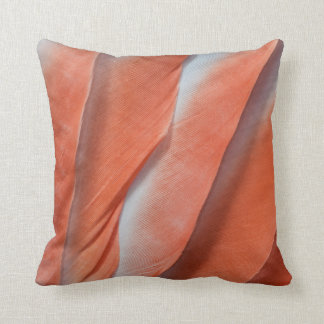 Pink Cockatoo Feather Design Throw Pillow