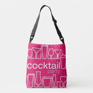 Pink cocktail party crossbody bag