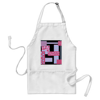 Pink collage standard apron