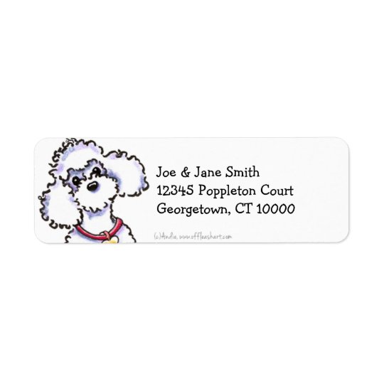 Pink Collar Poodle Clean & Simple Return Address Label