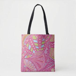 Pink Coloful Tote Bag