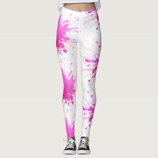 Pink Color Explosion. Hawt! Leggings
