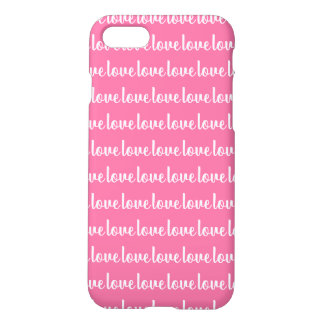 Pink Color White Text 'love' iPhone 8/7 Case