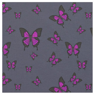 Pink colored Butterfies, Swallow tail Butterfly Fabric