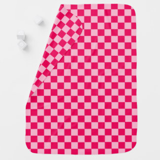 Pink Combination Classic Checkerboard by STaylor Baby Blanket