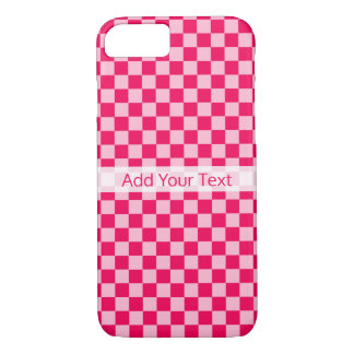 Pink Combination Classic Checkerboard by STaylor iPhone 8/7 Case