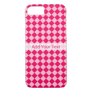 Pink Combination Diamond Pattern by Shirley Taylor iPhone 8/7 Case