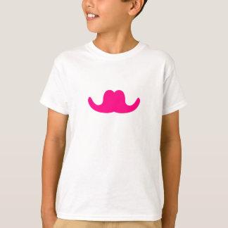 Pink Comedian Mustache T-Shirt