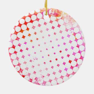Pink Comic Book Blast Design Ceramic Ornament