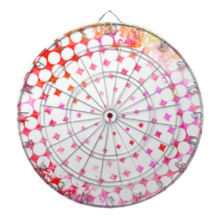 Pink Comic Book Blast Design Dartboard