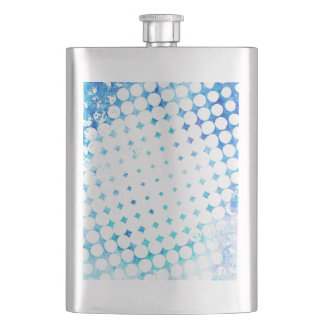 Pink Comic Book Blast Design Hip Flask