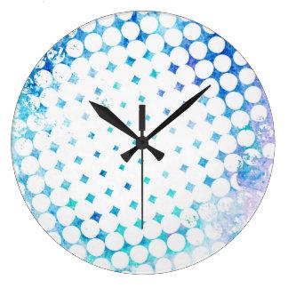 Pink Comic Book Blast Design Large Clock