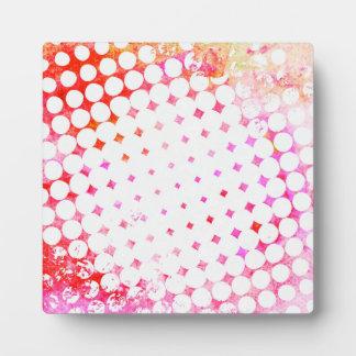 Pink Comic Book Blast Design Plaque