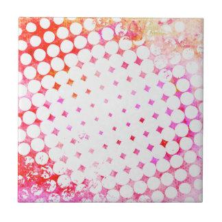 Pink Comic Book Blast Design Tile