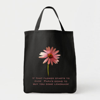 Pink Cone Flower If that flower starts to fade Grocery Tote Bag