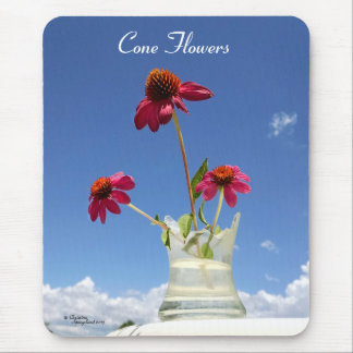 Pink Cone flowers Mousepad