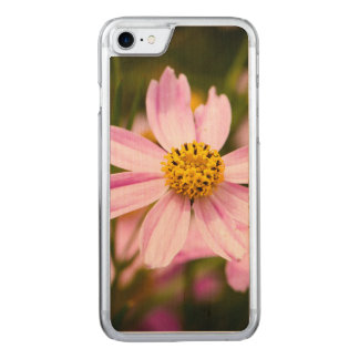 Pink Coneflower Carved iPhone 7 Case