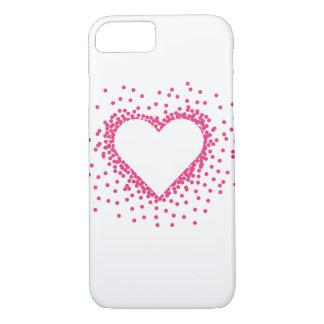 Pink Confetti Heart iPhone 7 Case