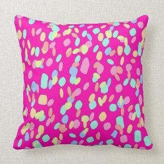 Pink Confetti Pattern Design Throw Pillow