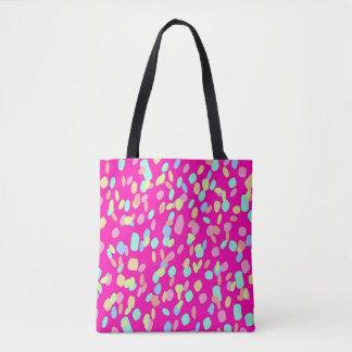 Pink Confetti Pattern Design Tote Bag