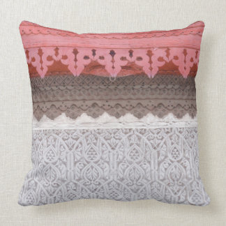 Pink Coral House Throw Pillow