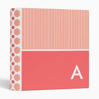 Pink & Coral Polka Dots, Dots 3 Ring Binders