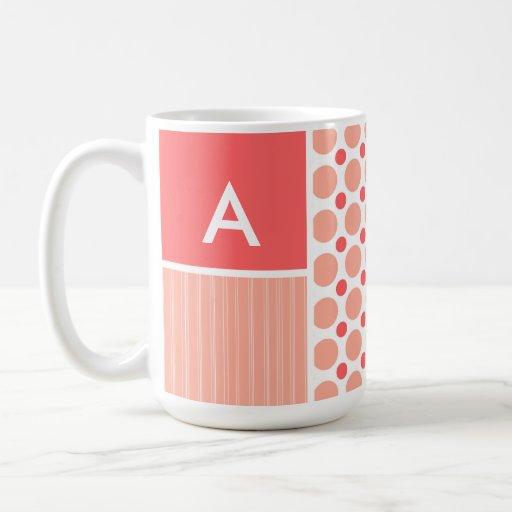 Pink & Coral Polka Dots, Dots Mug
