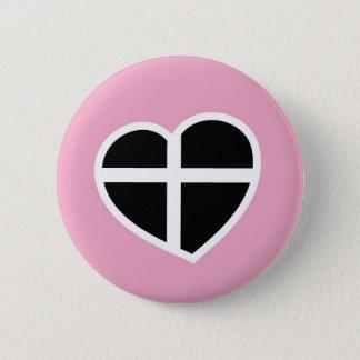 pink Cornwall heart 2 Inch Round Button
