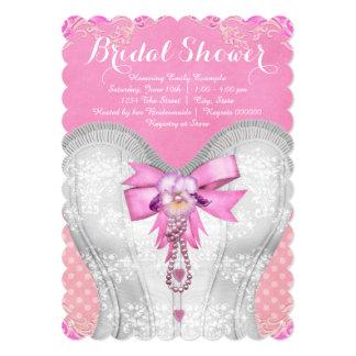 Pink Corset Bridal Shower Card