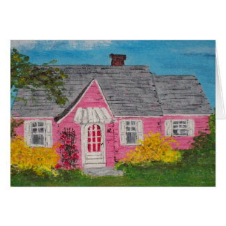 Pink Cottage Card