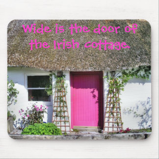 Pink Cottage Door Mousepad