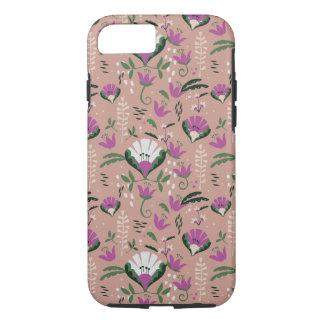 Pink Cottage Folk Floral iPhone 7 Case