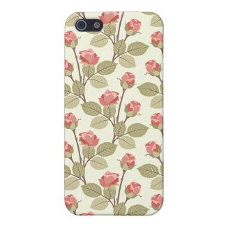 Pink Cottage Rosebuds iPhone 5 Cases