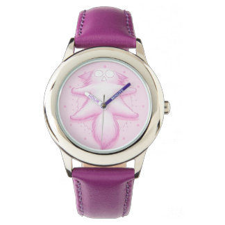 Pink Cotton Candy Cat Watches