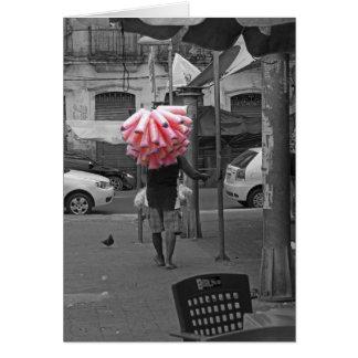 Pink cotton candy man card