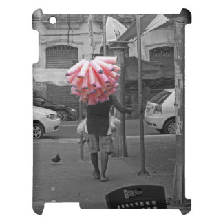 Pink cotton candy man iPad case