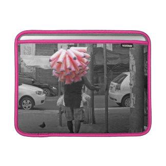 Pink cotton candy man MacBook sleeve