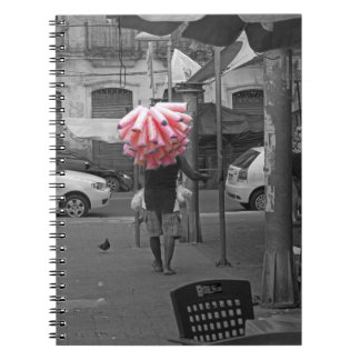 Pink cotton candy man notebook