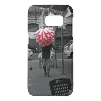 Pink cotton candy man samsung galaxy s7 case