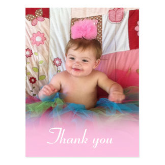 Pink Cotton Candy: Picture Thank You Postcard