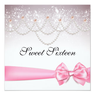 Pink Cotton Candy Sparkles Sweet Sixteen Card