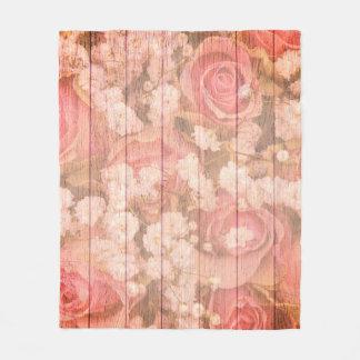 Pink Country chic design Fleece Blanket