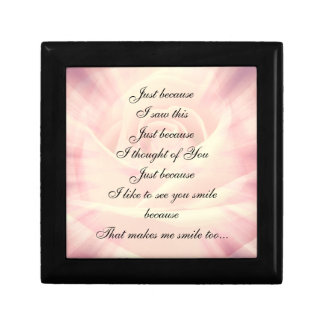Pink Country Chic Poem design Gift Box