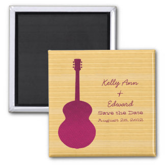 Pink Country Guitar Save the Date Magnet