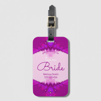 Pink Country Style Team Bride Luggage iD Tags
