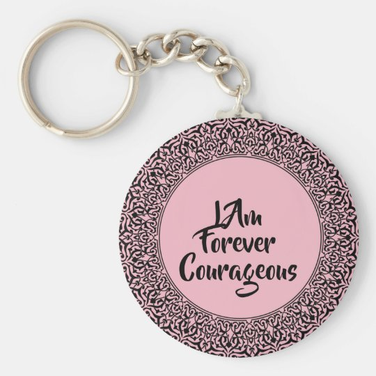 Pink Courageous Keychain